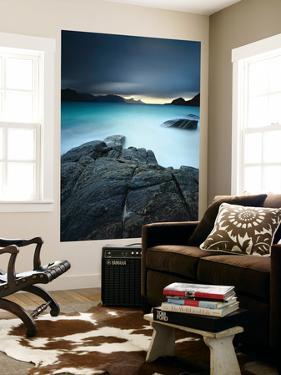 A Long Exposure Scene at Haukland Beach in Lofoten, Norway by Stocktrek Images