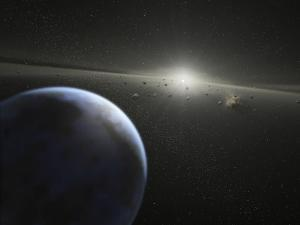 A Massive Asteroid Belt in Orbit Around a Star the Same Age and Size as Our Sun by Stocktrek Images