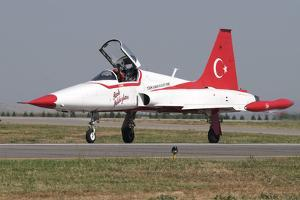 A Nf-5A of the The Turkish Stars Aerobatic Display Team by Stocktrek Images