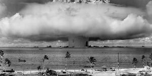 A Nuclear Weapon Test by the American Military at Bikini Atoll, Micronesia by Stocktrek Images