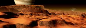 A Panorama of the Strange, Mesa-Like Mountains on Io by Stocktrek Images