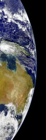A Partial View of Earth Showing Australia and the Great Barrier Reef by Stocktrek Images