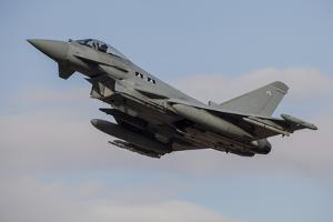 A Royal Air Force Typhoon Fighter Jet Taking Off by Stocktrek Images