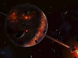 A Scene Portraying the Early Stages of a Solar System Forming by Stocktrek Images