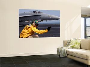 A Shooter Launches an F/A-18E Super Hornet from Uss Ronald Reagan by Stocktrek Images