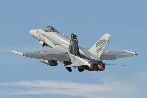 A Swiss Air Force F/A-18C During Tlp in Spain by Stocktrek Images