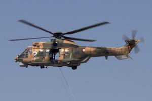 A Turkish Air Force As532 Al Cougar During a Flypast in Izmir, Turkey by Stocktrek Images