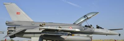A Turkish Air Force F-16D Block 50 at the Izmir Air Show in Turkey by Stocktrek Images
