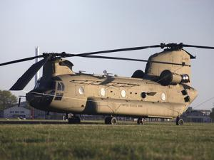 A U.S. Army CH-47F Chinook Helicopter by Stocktrek Images