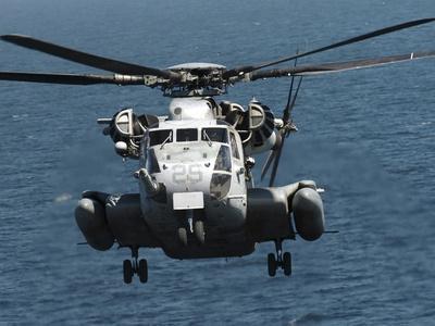 A U.S. Marine Corps CH-53E Super Stallion Helicopter