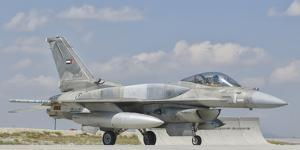 A United Arab Emirates Air Force F-16 Block 52+ Taxiing by Stocktrek Images