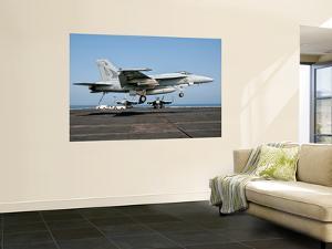 A Us Navy F/A-18E Super Hornet Prepares to Land Aboard Uss Eisenhower by Stocktrek Images