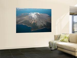 Aerial Image of Mount St Augustine Volcano, Cook Inlet, Alaska by Stocktrek Images