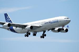 Airbus A340-300 Prepares for Landing at Le Bourget Airport, Paris, France by Stocktrek Images