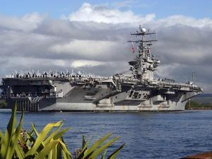 Aircraft Carrier USS Abraham Lincoln Arrives in Pearl Harbor, Hawaii by Stocktrek Images
