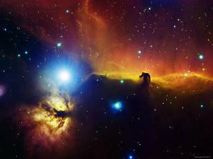 Alnitak Region in Orion (Flame Nebula NGC2024, Horsehead Nebula IC434) by Stocktrek Images