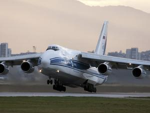 An Antonov An-124 Aircraft Taking Off from Sofia Airport, Bulgaria by Stocktrek Images