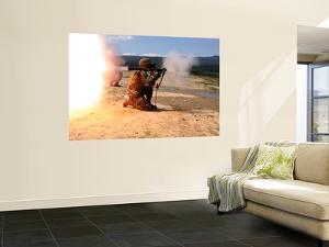 An Assaultman Fires a Rocket Propelled Grenade by Stocktrek Images