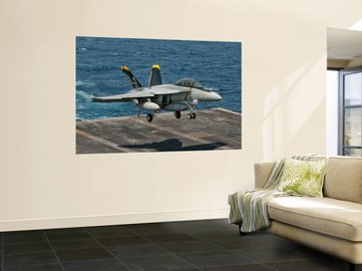An F/A-18F Super Hornet Prepares to Land Aboard Uss Eisenhower by Stocktrek Images