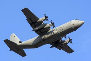 An Italian Air Force C-130J-30 During Takeoff by Stocktrek Images