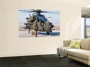 An Italian Army Agusta Aw129 Mangusta Attack Helicopter by Stocktrek Images