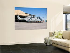 An Italian Navy Eh101 Helicopter at Forward Operating Base Herat, Afghanistan by Stocktrek Images