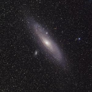 Andromeda Galaxy (M31) with Satellite Galaxies Messier 110 and Messier 32 by Stocktrek Images