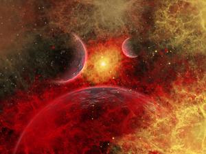 Artist' Concept Illustrating the Stellar Explosion of a Supernova by Stocktrek Images