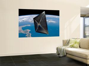 Artist Concept of NanoSail-D in Space by Stocktrek Images