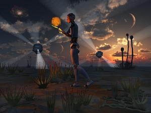 Artist's Concept of a Quest to Find New Forms of Energy by Stocktrek Images