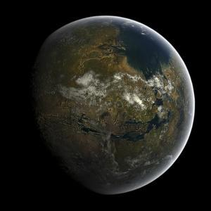 Artist's Concept of a Terraformed Mars by Stocktrek Images