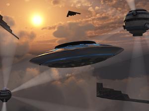 Artist's Concept of Alien Stealth Technology by Stocktrek Images