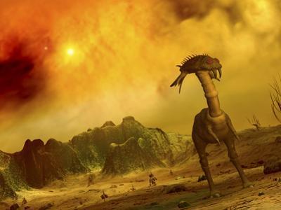 Artist's Concept of an Alien Planet by Stocktrek Images