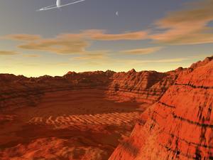 Artist's Concept of an Earth-Like Planet by Stocktrek Images