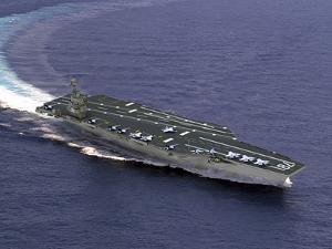 Artist's Concept of CVN-21, One of a New Class of Aircraft Carriers by Stocktrek Images