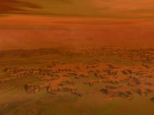 Artist's Concept of the Surface of Saturn's Moon Titan by Stocktrek Images
