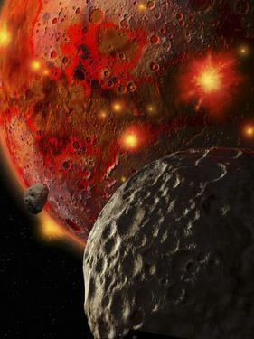 Asteroid Impacts on the Early Earth by Stocktrek Images