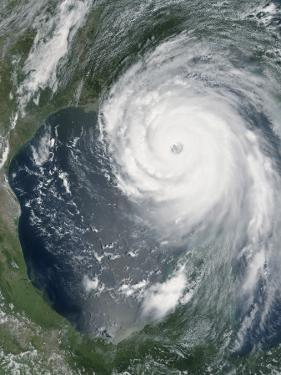 August 28, 2005, Hurricane Katrina Approaching the Gulf Coast by Stocktrek Images