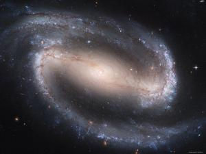 Beautiful Barred Spiral Galaxy NGC 1300, Hubble Space Telescope by Stocktrek Images