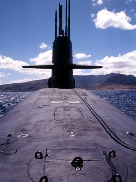 Bow and Sail View of USS Kamehameha, SSN 642, on the Surface off the Coast of Oahu, Hawaii by Stocktrek Images