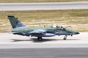 Brazilian Air Force A-1M (Amx) Taxiing at Natal Air Force Base, Brazil by Stocktrek Images