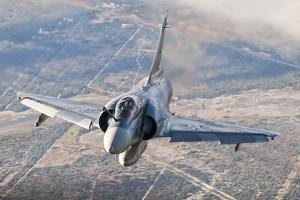 Brazilian Air Force Mirage 2000 Flying over Brazil by Stocktrek Images