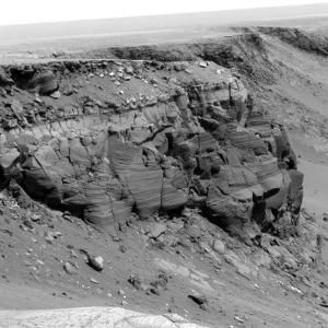 Cliff on the Surface of Mars by Stocktrek Images