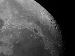 Close-Up View of the Moon Showing Impact Crater Plato by Stocktrek Images