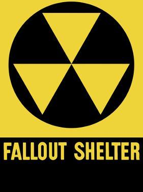 Cold War Era Fallout Shelter Sign by Stocktrek Images