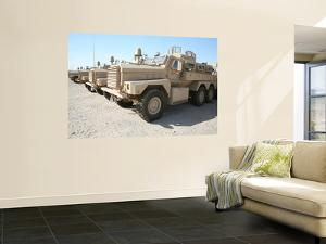 Cougar Hev Mine Resistant Ambush Protected Vehicles by Stocktrek Images