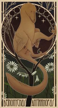 Deinonychus Antirrhopus Reconstructed in Art Nouveau Style by Stocktrek Images