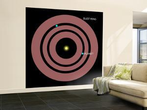 Diagram Showing How Planets Orbit Within a Ring of Dust Surrounding Beta Pictoris by Stocktrek Images