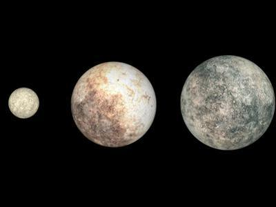 Dwarf Planets Ceres, Pluto, and Eris