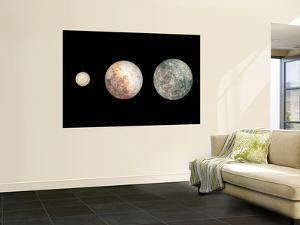 Dwarf Planets Ceres, Pluto, and Eris by Stocktrek Images